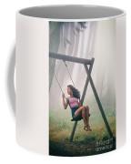 Girl In Swing Coffee Mug