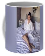 girl in the Bathrobe lying Coffee Mug