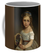 Girl With Basket Of Plums Coffee Mug