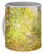 Glimpse Of A Stream In Autumn Coffee Mug