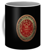 Gold Seal Of Solomon - Lesser Key Of Solomon On Black Velvet  Coffee Mug