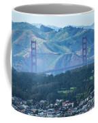Golden Gate Bridge View From Twin Peaks San Francisco Coffee Mug