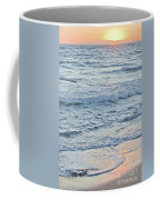 Golden Sunset And Ocean Horizon Coffee Mug