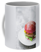 Gourmet Novelty Chicken Burger In Beetroot Bun Coffee Mug