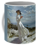 Grace Reading At Howth Bay Coffee Mug by Sir William Orpen