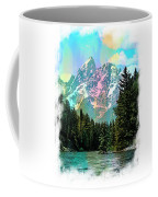 Grand Tetons From The Snake River Coffee Mug