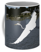 Great Egret At Melbourne Beach Coffee Mug