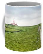 Green Fields And Romantic Lighthouse Coffee Mug