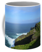 Green Grass On The Sea Cliff's In Ireland Coffee Mug