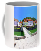 Green Ljubljana Riverfront Panoramic View Coffee Mug