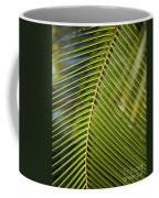 Green Palm Leaf Coffee Mug