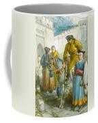 Group Near The Great Wall Of China Coffee Mug