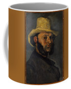 Gustave Boyer B 1840 In A Straw Hat Coffee Mug