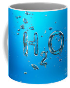 H2o Formula Made By Oxygen Bubbles In Water Coffee Mug
