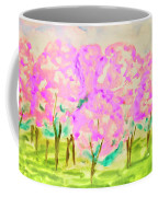 Hand Painted Picture, Spring Garden Coffee Mug