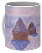 Haystacks, Snow And Sun Effect Coffee Mug