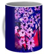 Sunset With Flowers Coffee Mug
