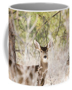 Herd Of Mule Deer In Deep Snow Coffee Mug