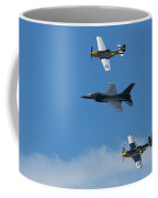 Heritage Flight, P-51 Mustang And F-16 Fighting Falcon Coffee Mug