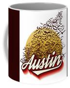 Congress Avenue Bridge Bats Take Flight In Austin Texas Coffee Mug