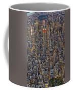 High Over Manhattan Coffee Mug