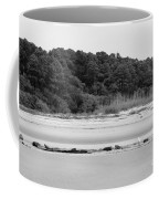 Hilton Head Island Shoreline In Black And White Coffee Mug