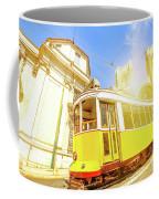 Historic Tram And Lisbon Cathedral Coffee Mug