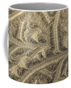 Extraordinary Hoarfrost Scallop Patterns In Sepia Coffee Mug