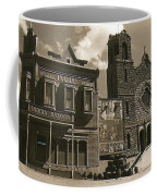 Holy Angel's Catholic Church Rectory  Belles Indian Saloon   The Great White Hope Set Globe Az 1969 Coffee Mug