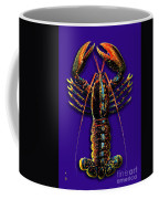 Homarus Vulgaris Flying On The Purple Coffee Mug