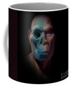 Homo Erectus With Skull Coffee Mug