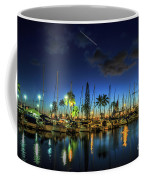 Honolulu Harbor By Night Coffee Mug