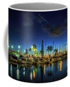 Honolulu Harbor By Night Coffee Mug