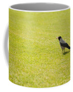 Hooded Crow Bird Gathering Hay Coffee Mug
