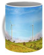 Horizontal Axis Wind Turbines. Panorama Coffee Mug