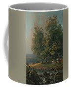 Horses And Cattle By A River Coffee Mug
