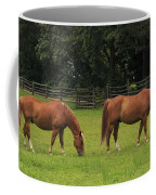 Horses In A Field Coffee Mug