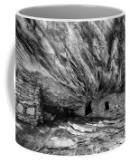 House On Fire Ruin Utah Monochrome 2 Coffee Mug