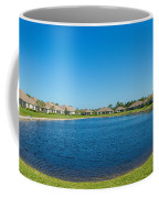 Houses Around Small Lake In North Port Coffee Mug