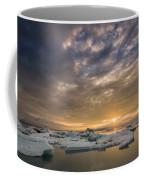 Icebergs On The Jokulsarlon Glacial Coffee Mug