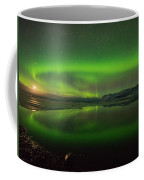 Iceland Aurora Reflection Coffee Mug