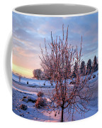 Icy Tree At Sunset  Coffee Mug