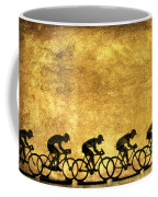 Illustration Of Cyclists Coffee Mug