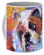 Impressionistic Bulldog Painting  Coffee Mug by Svetlana Novikova