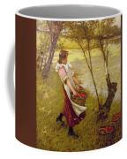 In The Orchard Haylands Graffham Henry Herbert La Thangue Coffee Mug