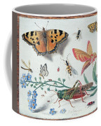 Insects And Garden Pansy Coffee Mug