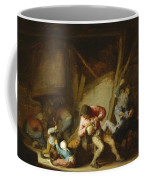 Interior With Drinking Figures And Crying Children Coffee Mug