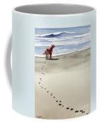 Irish Setter At The Beach Coffee Mug