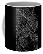 Irvine California Usa Dark Map Coffee Mug