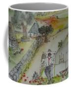 Italian  Landscape Scroll Coffee Mug